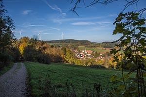 Weg ins Tal nach Büchenbach