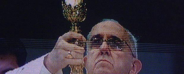 Papst Leinwand Petersplatz
