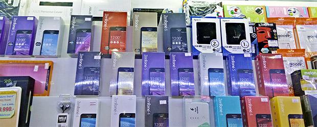 Auswahl an Smartphone