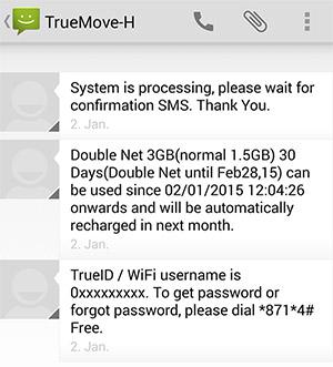 SMS Datenpaket