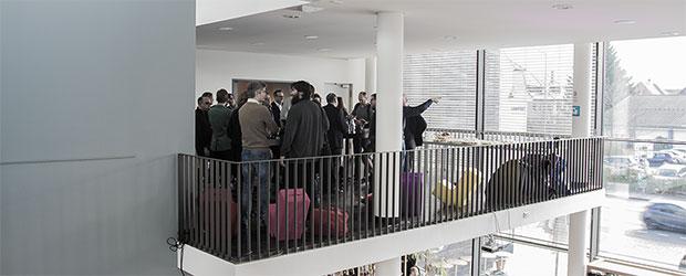 Blick von der Seite auf den Coworking Erlangen