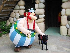 Obelix und Hund Eiko