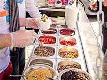 Frozen Yogurt Auswahl