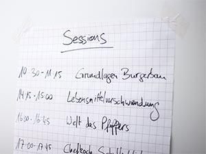 Sessions auf dem Foodcamp Nürnberg