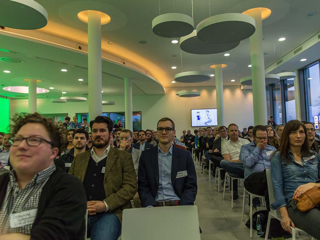 Publikum bei Startup Nacht