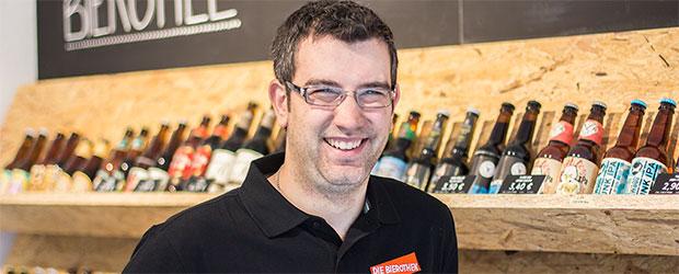 Steffen Rohnalter zummen mit Bier
