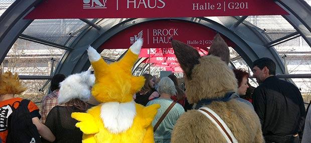 Besucher Buchmesse Leipzig