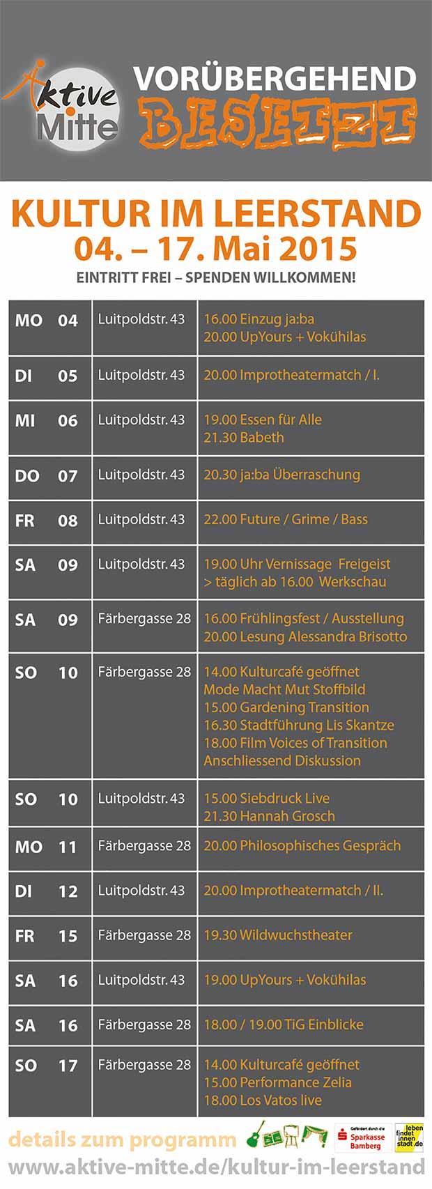 Spielplan Kulturrausch Bamberg