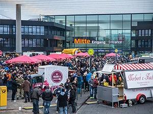 Foodtrucks auf dem WinterroundUp in Nürnberg