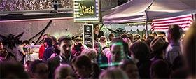 J. Kinski auf dem ersten Streetfood Markt Nürnberg