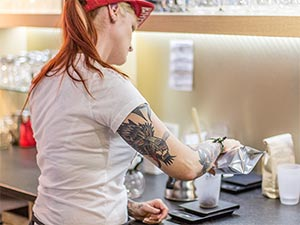Kaffeezubereitung von Melanie