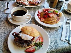 Burgerfrühstück in den USA