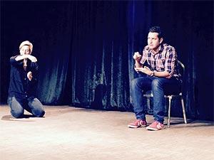 Szene aus Impro-Show