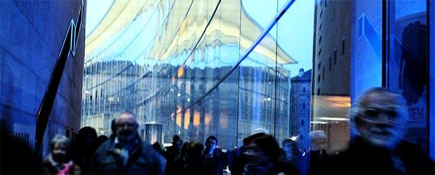 Blaue Nacht am Neue Museum