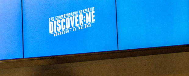 Discover:me Logo auf Monitor