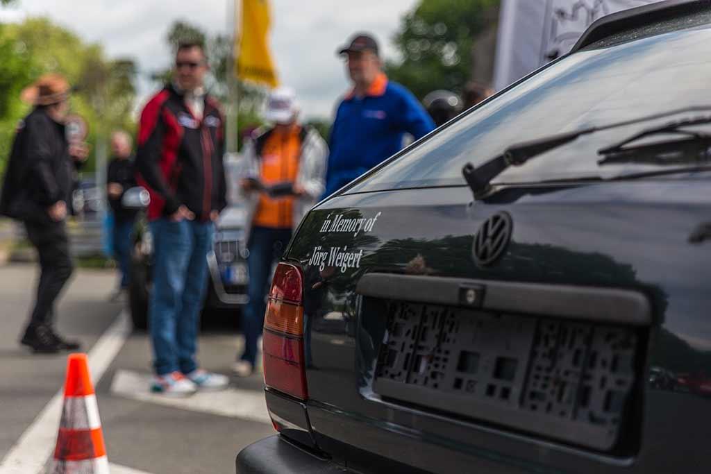 Detail Heck VW Polo Rennwagen