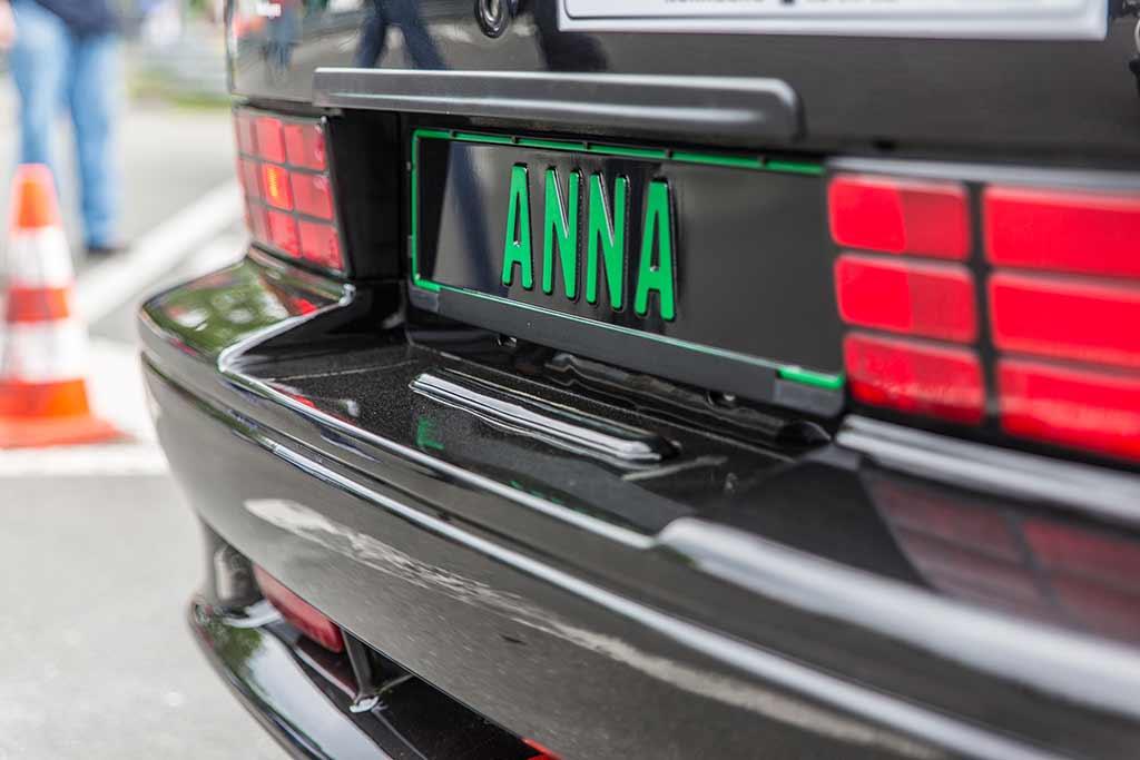 Kennzeichen Rennwagen ANNA