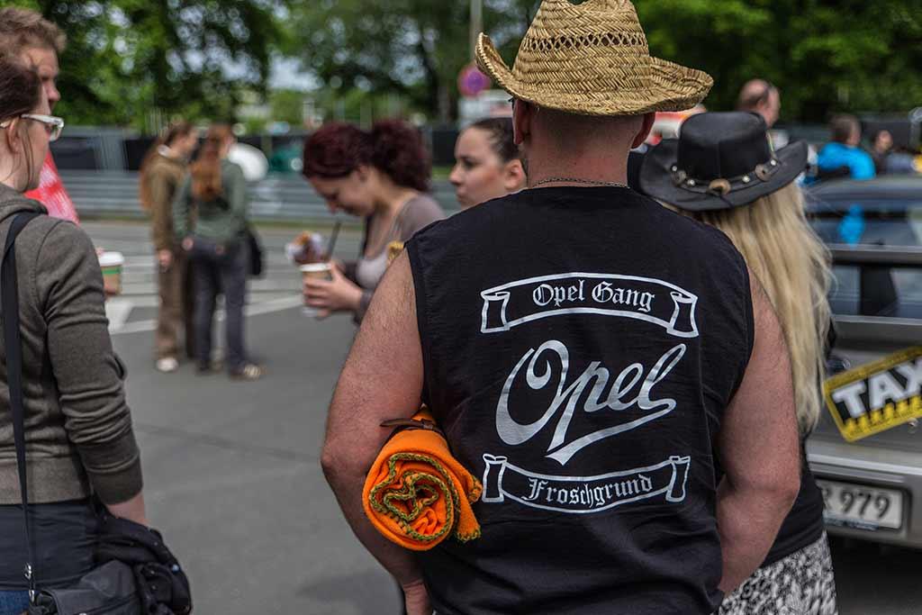 Gruppe Opel-Fans Shirt Aufdruck Opelgang Froschgrund