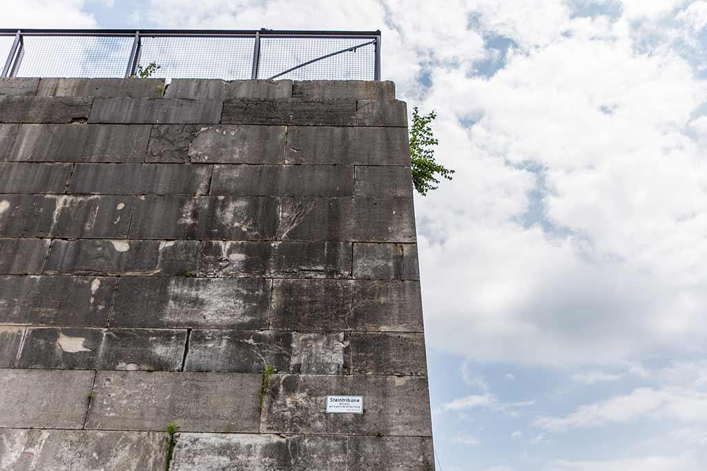 Detail Mauer von Steintribüne
