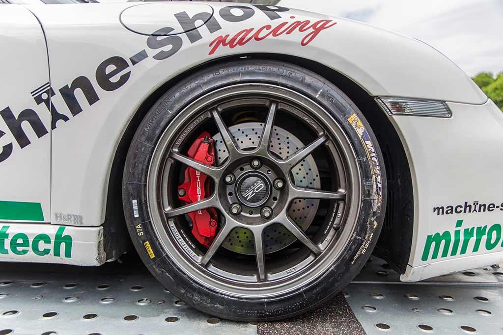 Detailansicht Vorderrad Porsche
