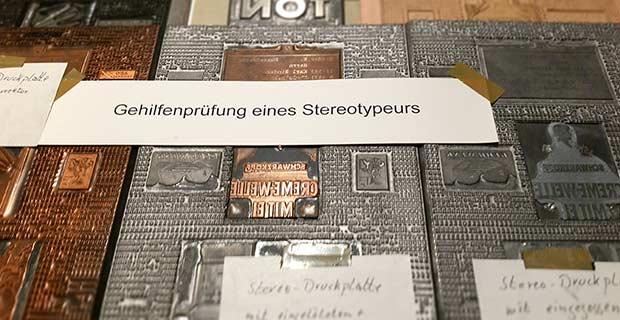 Druckplatten mit Bleilettern Museum