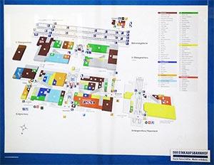 Karte des Einkaufsbahnhofes Nürnberg