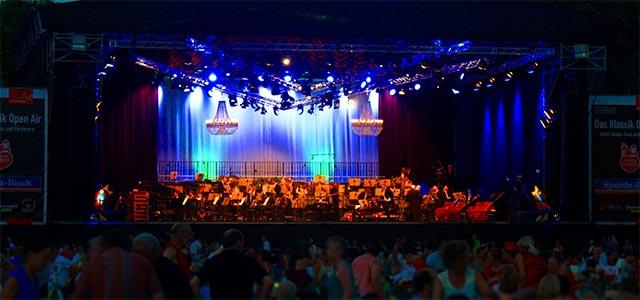 Bühne des Klassik Open Air Nürnberg