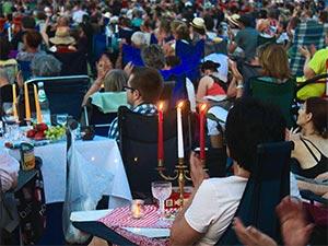 Kerzenlicht auf dem Klassik Open Air
