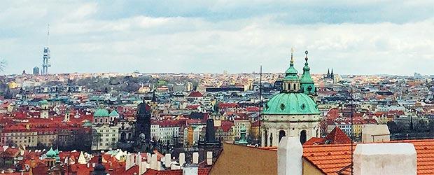 Blick über die Stadt Prag