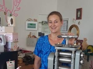 Tina Wendrich im Laden