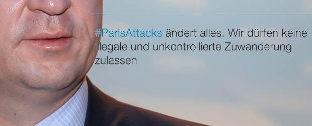 Markus Söder twittert zu Pariser Attentat