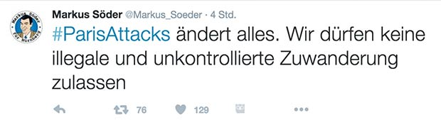 Tweet Screenshot Markus Söder