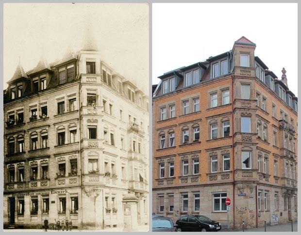 Das Eckhaus Knauerstraße 24 1910 und 2016