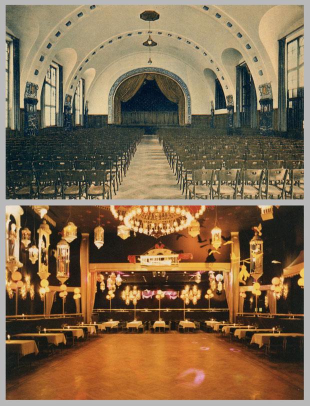 Der Große Lessingsaal, aufgenommen 1913 und zwischen 1978 und 1990