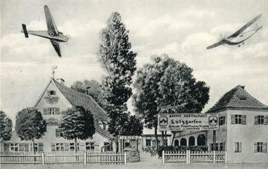Stolz präsentierte Heinrich Hofmann den Nutzgarten 1935 mit darüber kreisenden Flugzeugen.