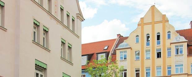 Dachlandschaft an Freytag- und Riehlstraße