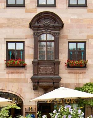 Das wieder angebrachte Chörlein am Haus Burgstraße 11, 2016.