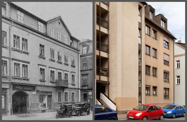 Das Anwesen Friedrichstraße 9, 1930 und 2016.