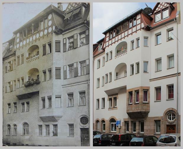 Das Haus Baaderstraße 21, aufgenommen 1910 und 2016.