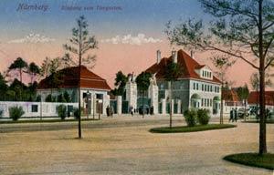 Der Eingang des alten Tiergartens an der Bayernstraße, aufgenommen 1912.
