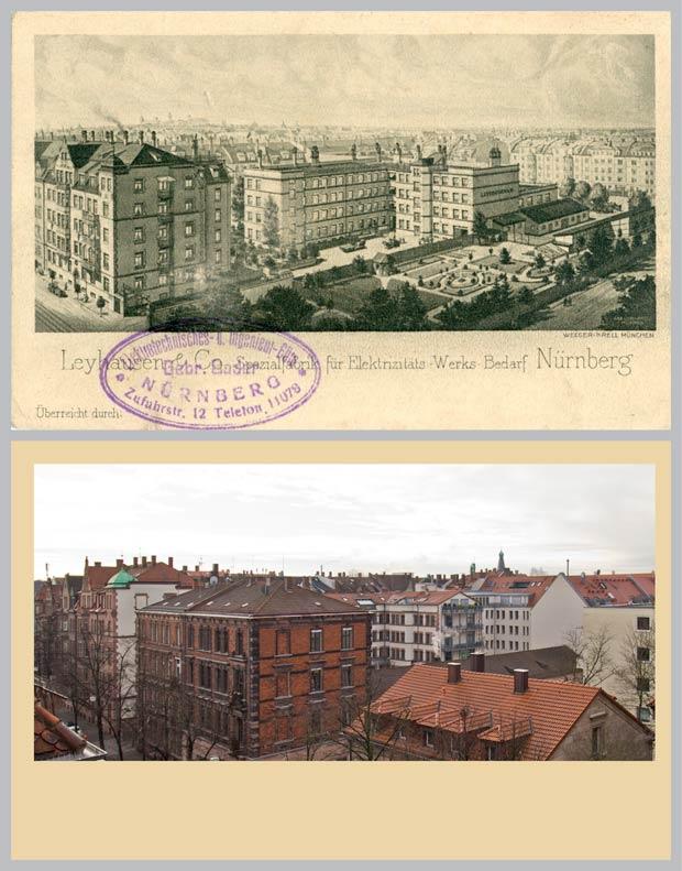 Das Karrée zwischen Rieter-, Rilke-, Kressen- und Bucher Straße, 1912 und 2018.