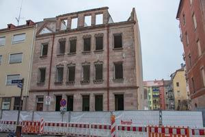 Das Anwesen Werderstraße 25 kurz vor seinem völligen Abbruch, 2017.