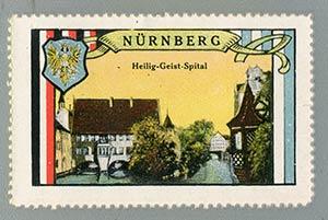 Spital zum Aufkleben: Um 1900 schaffte es die malerische Front der Sutte sogar auf Reklamemarken.