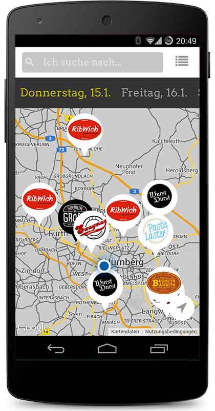 Foodtruck App deutschlandweit
