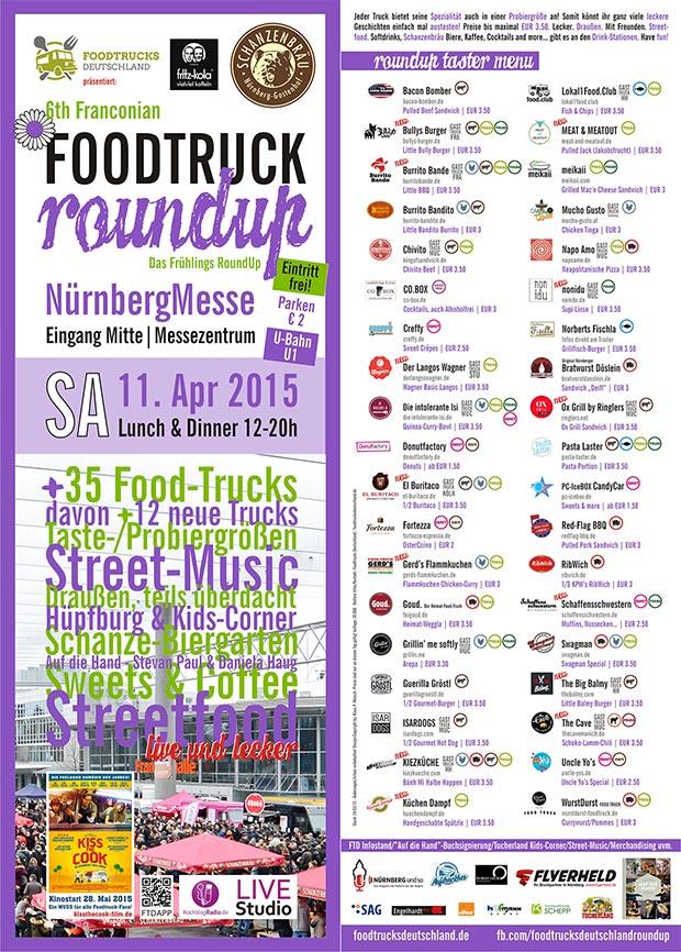 Foodtruck RoundUp Nürnberg Teilnehmer