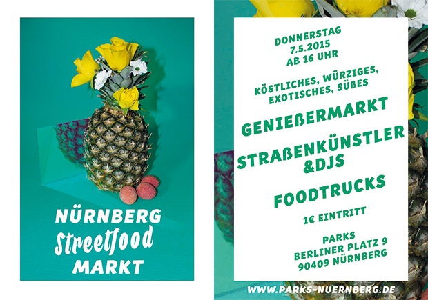 Flayer erster Streetfoodmarkt Nürnberg