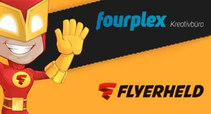 Logo Fourplex und Flyerheld