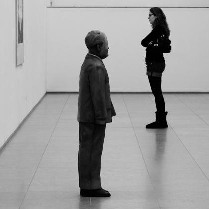 Ausstellung Skulptur Frau