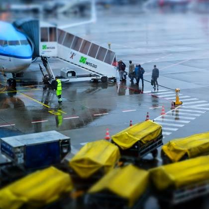 Flughafen Boarding