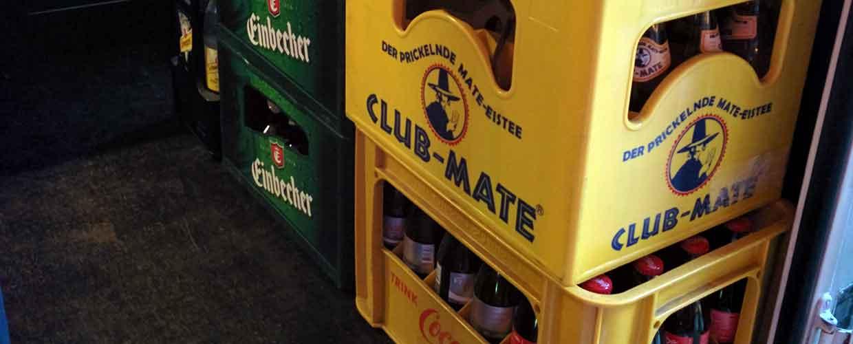 Club Mate Kiste in Berlin entdeckt